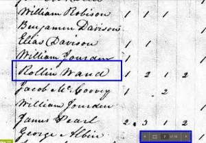 1830 Census Rollin Ward