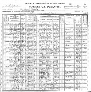 1900 United States Federal Census Dell Sr