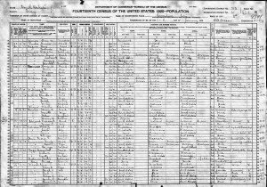 1920 United States Federal Census John P