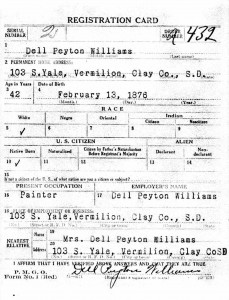Pg1 WWI Draft Registration Dell Sr